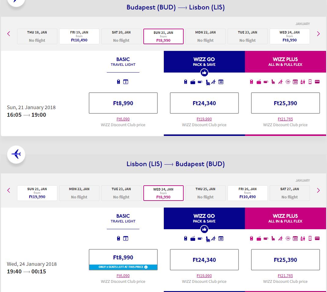 Letenka: Budapešť - Lisabon za 39.00€ spiatočne