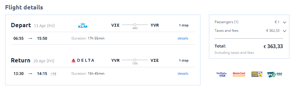 Letenka: Viedeň - Calgary za 373.00€ spiatočne