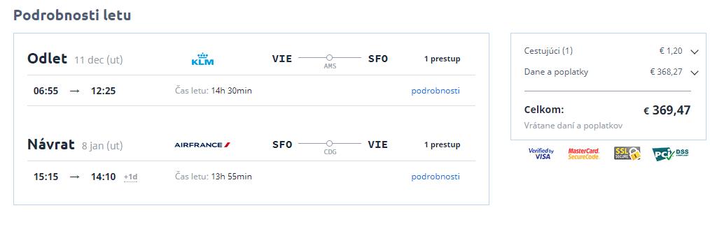 Letenka: Viedeň - Los Angeles za 369.00€ spiatočne