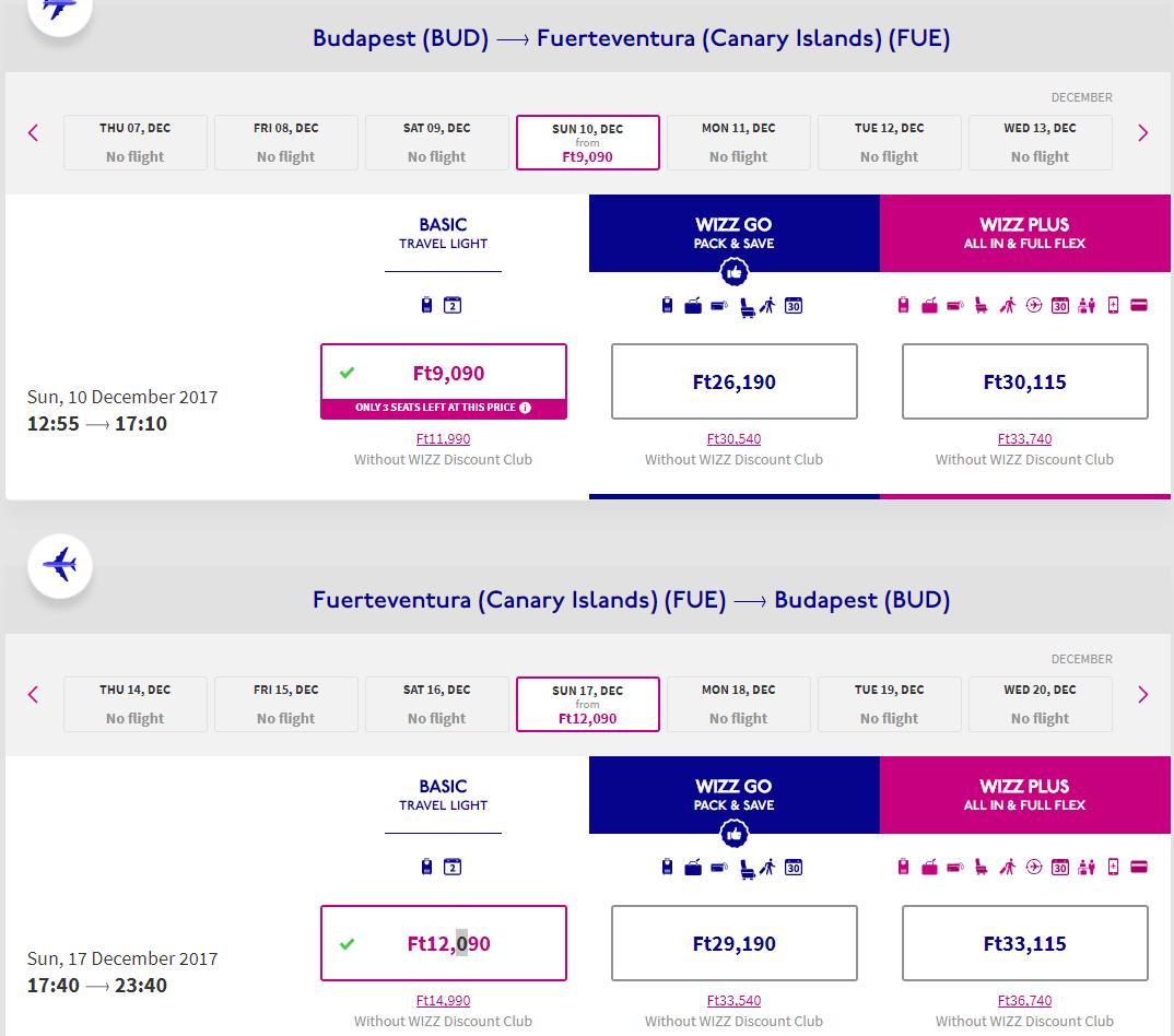 Letenka: Budapešť - Fuerteventura za 67.00€ spiatočne