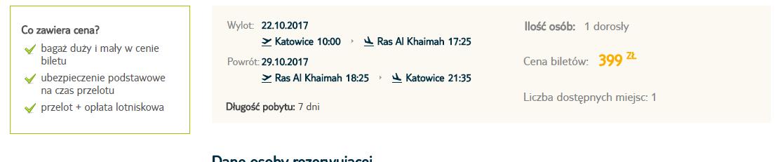 Letenka: Katovice - Ras Al Khaimah za 93.00€ spiatočne