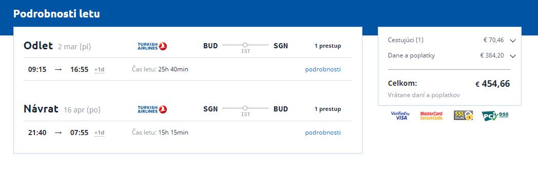 Letenka: Budapešť - Ho Chi Minh City za 454.00€ spiatočne